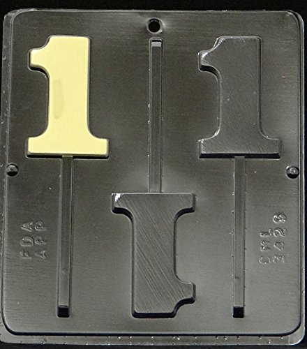 One Mold - Candy Molds N More Number 1 Lollipop Chocolate Candy Mold, Quantity 1