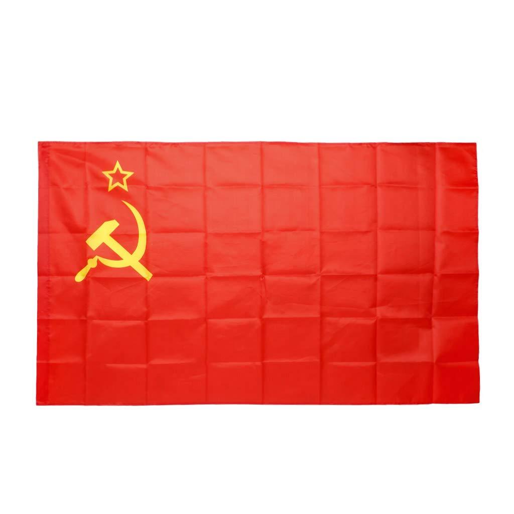 SimpleLife Bandera de Unió n Sovié tica Colgante Bandera de paí s Festival de Desfile de Actividad 3x5 pies