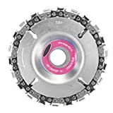 Grinder Disc,Yingte 4 inch Grinder Disc and Chain 22 Tooth Fine Cut Chain Set for 100/115 Angle Grinder
