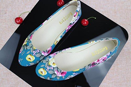 LEIT Dünne Schuhe Canvas Camouflage der Frauen Flach C