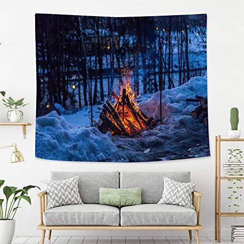BEIVIVI Wall Tapestry Wall Hanging Bonfire at Night
