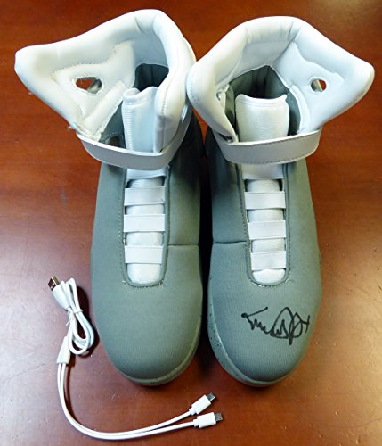 Michael J Fox Autographed Back To The Future Air Mag Shoes PSA/DNA Stock #105726 - Back To The Future Shoes