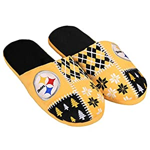 NFL Pittsburgh Steelers Unisex Ugly Slide Slipper Small from Team Beans, LLC