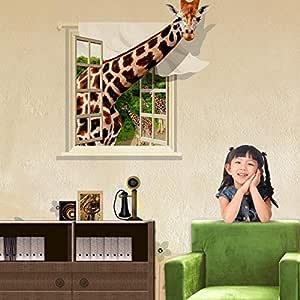 3D Stereo Giraffe Sticker-8QZ0899