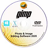GIMP 2020 Photo Editor Premium Professional Image Editing Software for PC Windows 10 8.1 8 7 Vista XP, Mac OS X & Linux - Full Program & No Monthly Subscription!