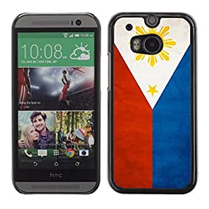 Shell-Star ( National Flag Series-Philippines ) Snap On Hard Protective Case For All New HTC One (M8)