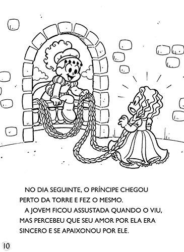 Turma Da Monica Classicos Ilustrados Para Colorir Rapunzel