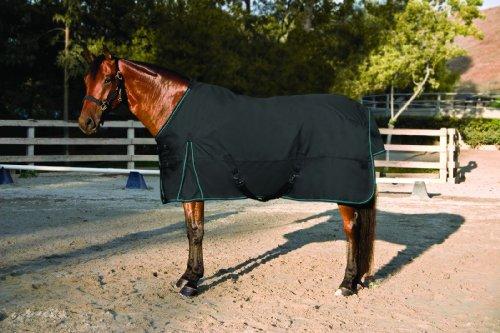 Kensington All Around HD 1200D Euro Cut Rain Sheet, Black, (Horse Turnout Sheet)