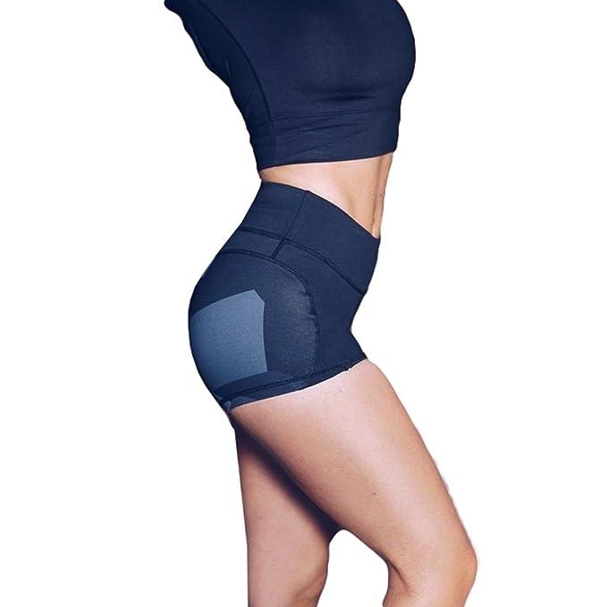 Yying Mujer Yoga Pantalones Cortos Fitness Verano Deporte Leggins Workout  Fitness Gimnasio Corriendo Elástico Corto Pantalones Delgado Ropa Deportiva  ... 758f42fe3b20