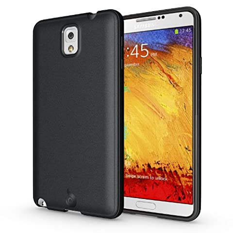 Diztronic Matte Back Black Flexible TPU Case for Samsung Galaxy Note 3 - Retail Packaging (Galaxy Note 3 Phone Case Black)