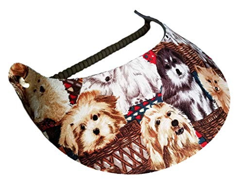(The Incredible Sunvisor Available in Beautiful Patterns Perfect for Summer! Made in The USA! (Dog)