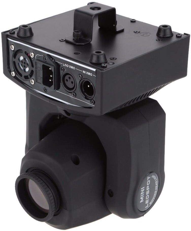 Lyre Led Noir UKing 30W DMX-512 Lyre Beam 8 Gobos 8 couleurs Projecteur LED /à T/ête Mobile 9//11 canaux Vocale Commande pour Club Bar KTV Disco Show