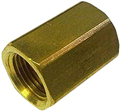 MettleAir NPT Female Thread Double Sided Straight Female Coupling Union Fitting, Brass