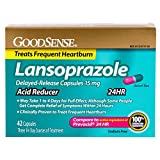 GoodSense Acid Reducer, Lansoprazole Delayed Release Capsules, 15 mg, 42 Count