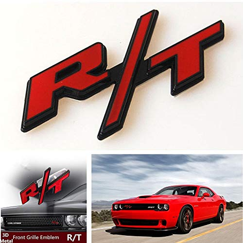 Metal Red RT R/T Black Outlining Badge Front Grille, used for sale  Delivered anywhere in USA