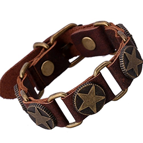Leather Bracelet Metal Bangle Wristband product image