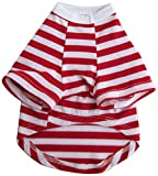 Iconic Pet Pretty Pet Striped Top, Medium, Red and White