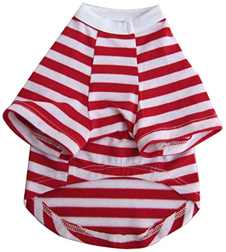 Iconic Pet Pretty Pet Striped Top, Medium, Red and White by Iconic Pet