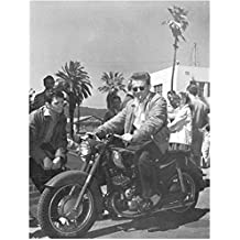 James Dean Riding Motorcycle Smoking by People 8 x 10 Inch Photo