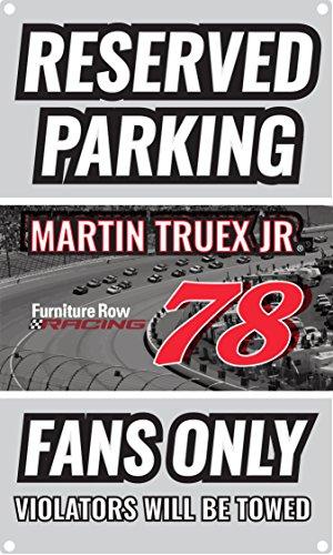 Nascar Parking Sign (NASCAR Reserved Parking for #78 Martin Truex Fans Only Sign-NASCAR Metal Parking Sign)