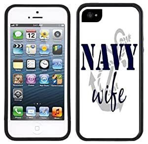 Navy Wife Handmade iPhone 5C Black Case