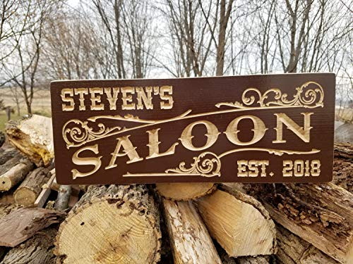 Mildred Rob Custom Wood Signs Wooden Signs Brewery Name Saloon Sign Personalized Wooden Signs Man Cave SignsPersonalized Garage -