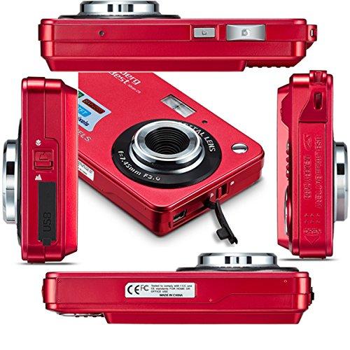 "AbergBest 21 Mega Pixels 2.7"" LCD Rechargeable HD Digital Camera Video Camera Digital Students Cameras,Indoor Outdoor for Adult/Seniors/Kid (Red)"