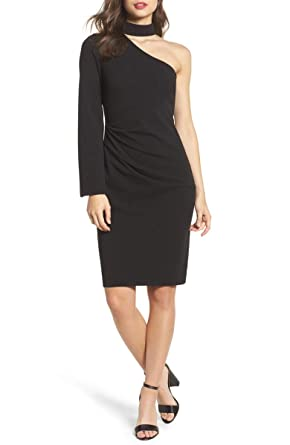 Image Unavailable. Image not available for. Color  Vince Camuto Women s  Mock-Neck One-Shoulder Dress ... ee064cf514