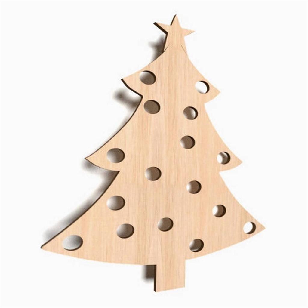10 x Weihnachtsbaum Tannenbaum Weihnachten Chrismas Form Holz ...