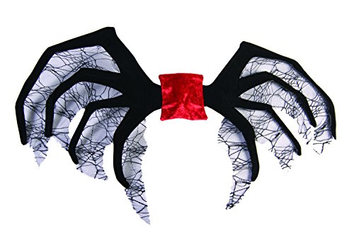 Forum Novelties Women's Designer Collection Wicked Widow Costume Wings, Black, One Size