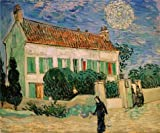 Oil Painting 'The White House At Night,1890 By Vincent Van Gogh' 16 x 19 inch / 41 x 49 cm , on High Definition HD canvas prints is for Gifts And Bed Room, Home Office And Kids Room Decoration, prints