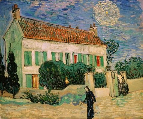 The Polyster Canvas Of Oil Painting 'The White House At Night,1890 By Vincent Van Gogh' ,size: 8x10 Inch / 20x24 Cm ,this High Resolution Art Decorative Canvas Prints Is Fit For Basement Decor And Home Decoration And Gifts