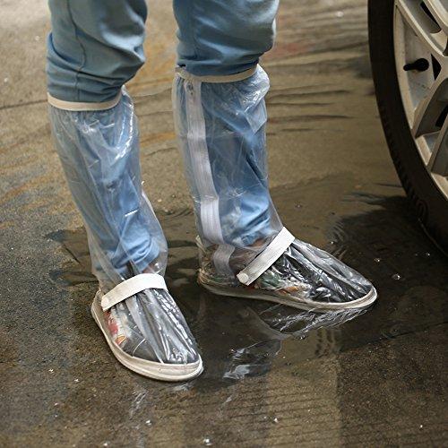 Rutilisables Le Plein Neige Camping Bottes Impermables De Couvre Cyclisme Pche Vlo Couverture Moto Hommes l Air Antidrapantes Pour noir Couvre Scooter Chaussures chaussures Pluie Effacer U8wxRa7q