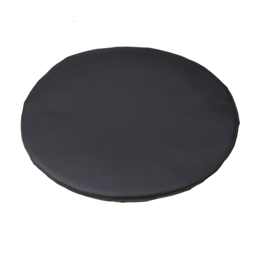 Olywell Round Bar Stool Cover 15'',Faux Leather Anti-slip Chair Pad Cover, Black