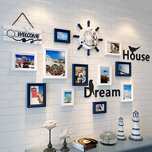 European - Style Photo Wall Frame Creative Living Room Picture Wall Combination Modern Minimalist Decoration ( Color : A ) by AI XIN SHOP