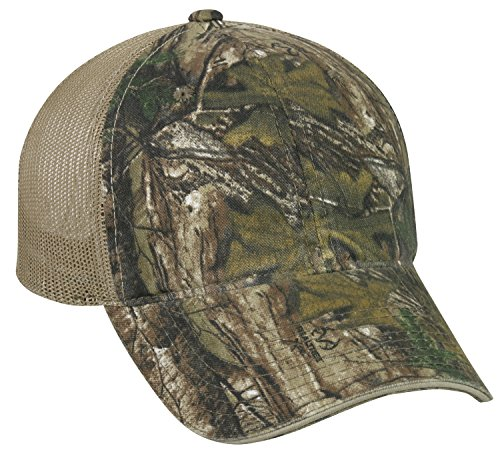 Adjustable Back Hook - Realtree Adjustable Hook/Loop Tape Closure Blank Mesh Back Cap, Xtra Camo