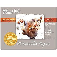 Handbook Paper Fluid 100 Watercolor Cp 140Lb Ez-Block 9X12