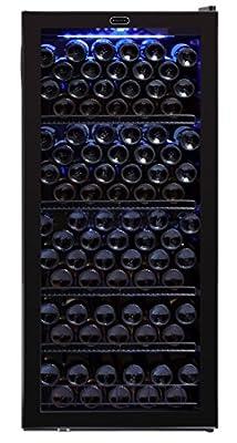 Whynter FWC-1201BB 120 Bottle Freestanding Wine Cabinet Refrigerator, Black