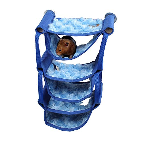 Oncpcare Multi-Layer Small Animals Toy Interconnection Small Animals Bed Resting Syrian Hamster Hammock Playing Rat…