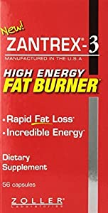 Zantrex-3 High Energy Extreme Fat Burner Capsules, 56 Count by Zoller