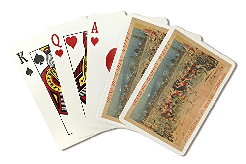 Michael Strogoff - Grand Hungarian Ballet Vintage Poster (artist: Anonymous) USA c. 1882 (Playing Card Deck - 52 Card Poker Size with Jokers) -