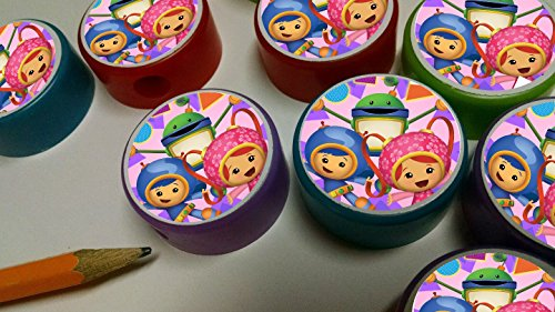 12 TEAM UMIZOOMI pencil sharpeners for birthday party