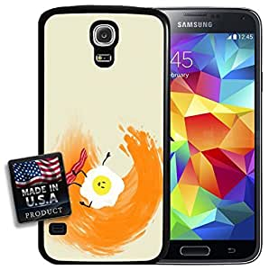 Eggs and Bacon Surfing Waves Painting Galaxy S5 Hard Case