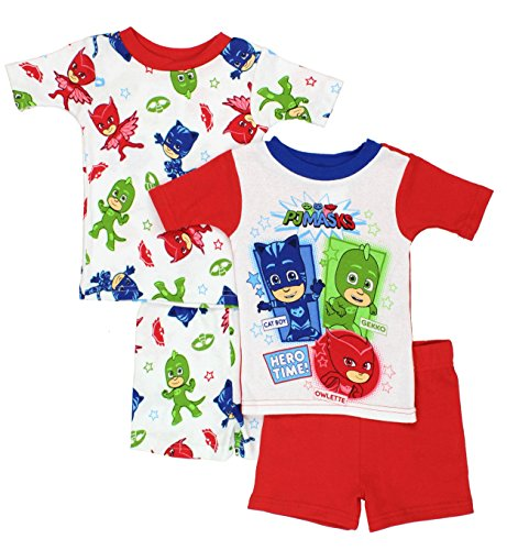 PJ Masks Boys 4 piece Shorts Pajamas Set (Toddler)