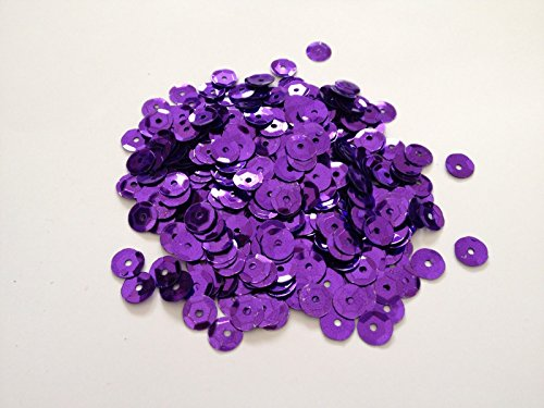 Package of 5000Pcs Craft Sequin Trim Cup Sequins PURPLE Metallic Sequins Sewing Tools Dressmaking Fabric Crafts 7mm Sequin Loose for embroidery, applique, arts, bridal wear and embellishment