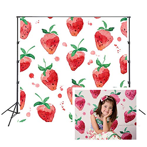 Strawberry Photo Backdrop Cartoon Background for Summer Party Photography Portraits Photo-Booth FD-6444