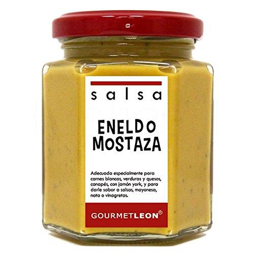 Salsa de Eneldo y Mostaza 160ml. Gourmet Leon. 12un.: Amazon.es: Alimentación y bebidas