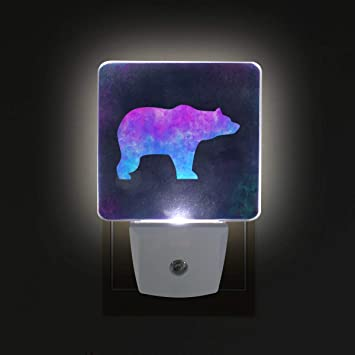 Amazon com: Bear Grizzly Pastel Plug-in Led Night Light with