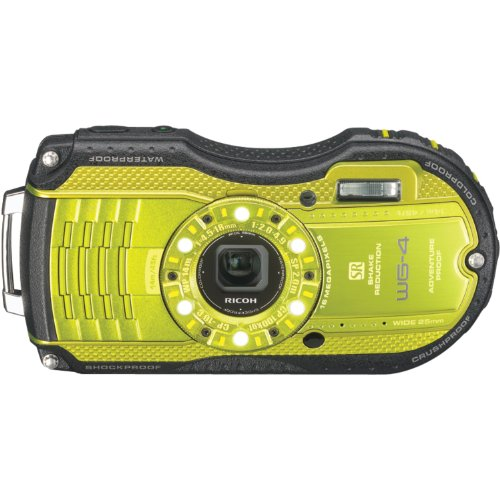 Ricoh WG-4 Lime Yellow 16Digital Camera with 4x Optical Image Stabilized Zoom with 3-Inch LCD (Lime Yellow) by Ricoh