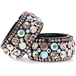 Nice 1 pc 2018 Hair Clips Plastic Crystal Gum for Hair Ponytail Ring Buckle Holder Women Accessories Spring Hairpin Champagne,Red